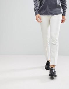 Супероблегающие брюки с эффектом металлик Noose & Monkey - Белый