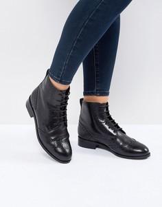 Высокие кожаные броги New Look - Черный