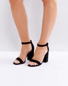 Босоножки на блочном каблуке New Look Barely There - Черный