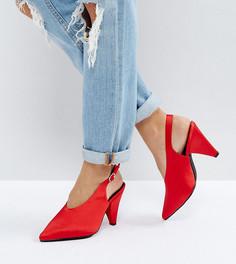 Туфли-лодочки на каблуке для широкой стопы New Look - Красный