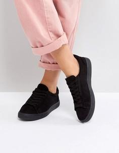 Кроссовки на шнуровке New Look - Черный