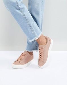 Блестящие кроссовки на шнуровке New Look - Золотой