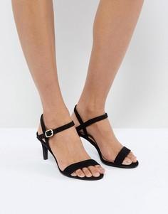 Босоножки на низком каблуке New Look - Черный