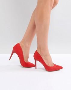 Остроносые туфли-лодочки New Look - Красный