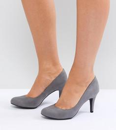 Туфли-лодочки на каблуке для широкой стопы с круглым носком New Look - Серый