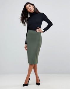 Трикотажная юбка-карандаш ASOS - Зеленый