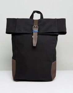 Черный рюкзак ролл-топ New Look - Темно-синий
