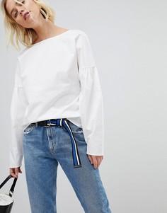 Блузка с пышными рукавами Pieces - Белый