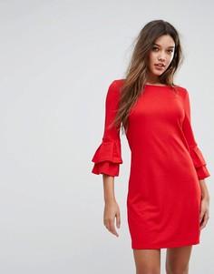 Свободное платье с рукавами клеш Lipsy - Красный