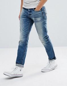 Суженные книзу выбеленные джинсы G-Star 3301 - Синий