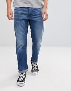 Выбеленные прямые джинсы G-Star Type C 3D - Синий