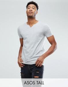 Серая свободная футболка ASOS - Серый