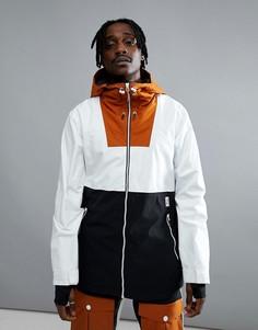 Белая горнолыжная куртка колор блок Wear Colour - Белый
