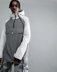 Серая горнолыжная куртка Wear Colour Coil - Серый