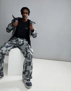Серые камуфляжные горнолыжные брюки Wear Colour Wear Snow - Серый