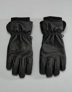 Черные кожаные лыжные термоперчатки Marmot - Черный