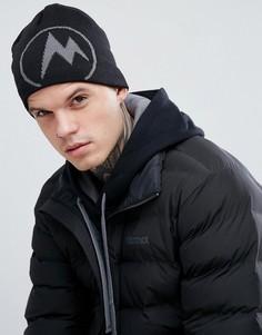 Черная шапка-бини с логотипом Marmot Summit - Черный