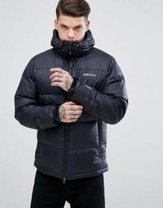 Черная дутая куртка с капюшоном Marmot Guides - Черный
