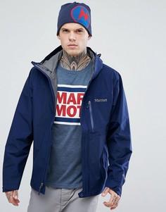Лаконичная темно-синяя куртка с капюшоном Marmot - Темно-синий