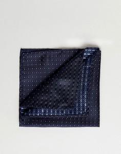 Шелковый платок для нагрудного кармана Jack & Jones - Темно-синий