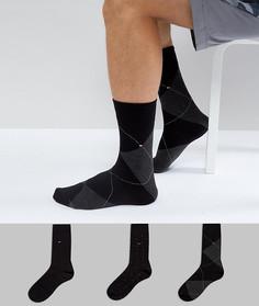 Подарочный набор из 3 пар носков Tommy Hilfiger - Черный