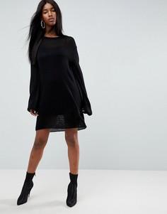 Платье миди ASOS - Черный