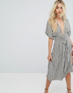 Платье миди в полоску Faithfull - Серый
