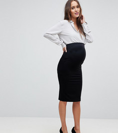 Трикотажная юбка-карандаш для беременных ASOS Maternity - Черный