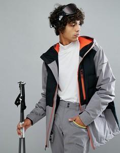 Черная горнолыжная куртка с контрастной молнией Quiksilver High West - Черный