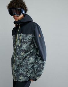Горнолыжная куртка колор блок Quiksilver Mission Anicamo - Черный
