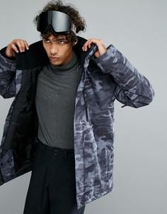 Камуфляжная горнолыжная куртка Quiksilver Mission - Черный