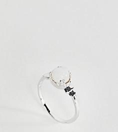 Серебряное кольцо на мизинец в винтажном стиле с лунным камнем ASOS - Серебряный