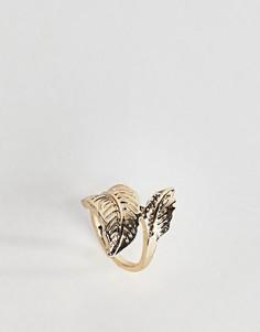 Кольцо на большой палец в виде листика ASOS - Золотой