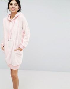 Флисовый халат Hunkemoller - Розовый