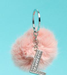 Эксклюзивный брелок для ключей с помпоном и буквой Skinnydip - Буква L - Мульти