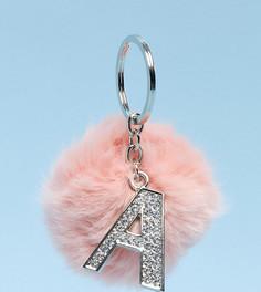 Эксклюзивный брелок для ключей с помпоном и буквой Skinnydip - Буква А - Мульти