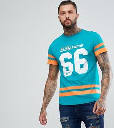 Оверсайз-футболка с принтом команды Miami Dolphins Majestic - Зеленый
