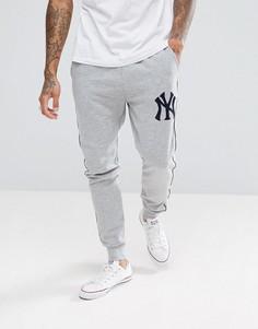 Серые джоггеры Majestic New York Yankees - Серый