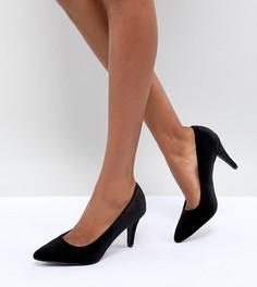 Туфли-лодочки для широкой стопы на среднем каблуке с острым носком New Look - Черный