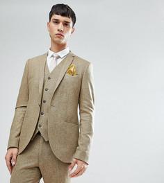 Приталенный пиджак в крапинку Noak TALL - Светло-бежевый