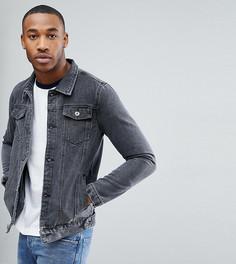 Черная выбеленная джинсовая куртка Liquor N Poker - Черный
