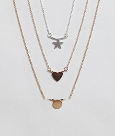 3 ожерелья с подвесками ASOS - Мульти
