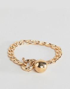 Браслет-цепочка с подвеской-шариком ASOS - Золотой