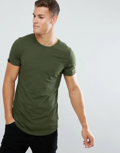 Длинная хлопковая футболка Produkt - Зеленый
