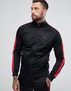 Спортивная куртка с полосками по бокам Good For Nothing - Черный