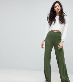 Широкие трикотажные брюки ASOS TALL - Черный