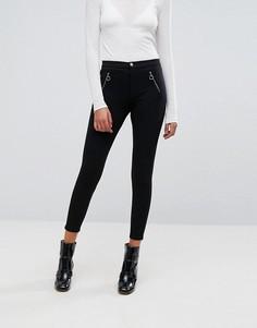 Широкие брюки с молнией спереди Esprit - Черный