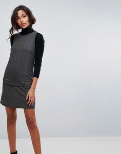 Платье с узором гусиная лапка Esprit - Мульти