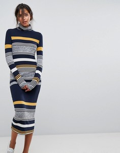 Платье миди с принтом Esprit - Мульти