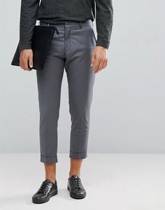 Серые укороченные брюки Selected Homme - Серый